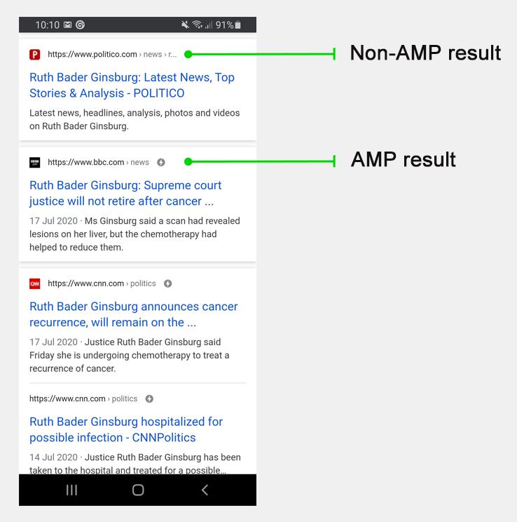 Gli articoli AMP non garantiscono mai il primo posizionamento su Google